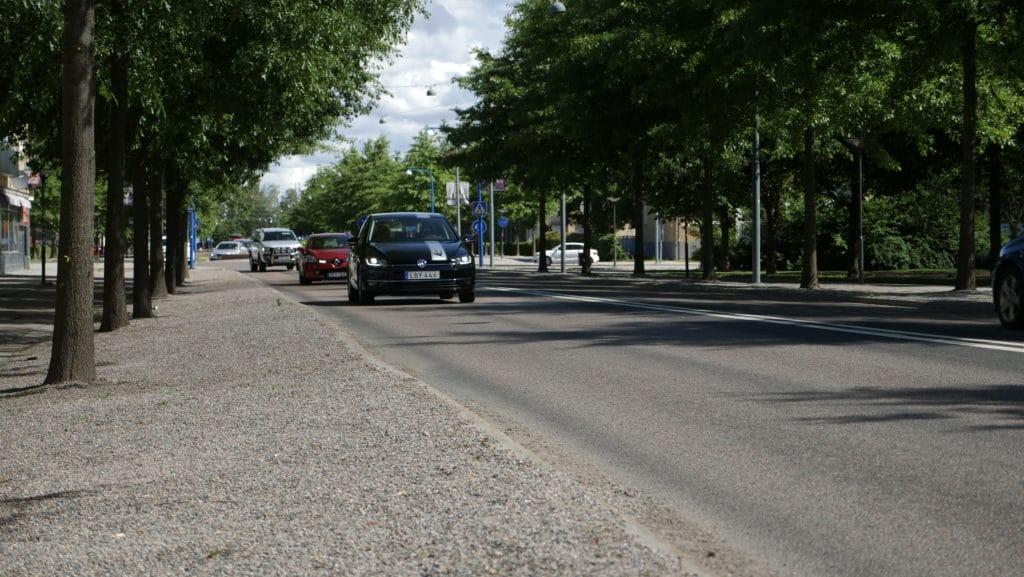 Träning i stadskörning på Krekolas trafikskola